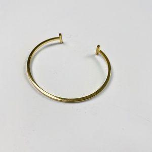 Anthropologie Gold Bangle Bracelet